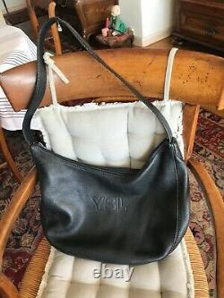 Sac à main femme, Yves Saint-Laurent, cuir noir, excellent état
