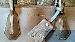 Sac à main leather handbag Longchamp Pénélope bi-matière chocolat M