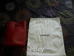 Sac à main rouge Lancel