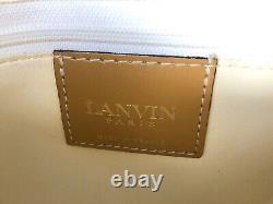 Sac à main vintage LANVIN Paris cuir camel