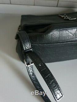 Sac à main yves saint laurent cuir croco vendu avec dutbag et ticket de caisse