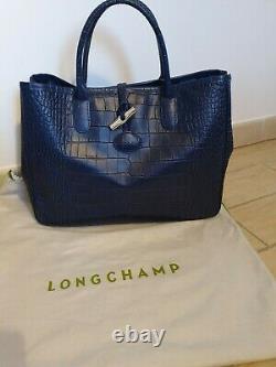Sac à mains Longchamp Roseau façon croco