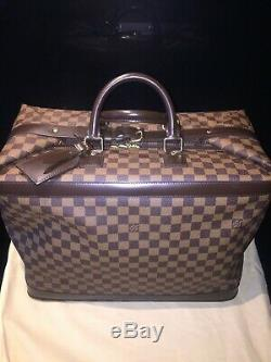 Sac de voyage Louis Vuitton Grimaud en toile Damier ébène et cuir de vachette
