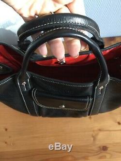 Sac longchamp cuir noir Modèle Rodéo