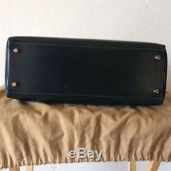 Sac à main Kelly Hermes cuir box vert 35cm