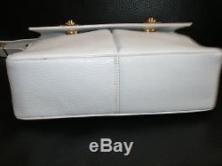 Superbe Sac à Main Besace Vintage CELINE Cuir Blanc