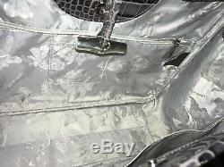 Superbe Sac, cabas en cuir LONGCHAMP roseau gris façon croco TBE quasi NEUF