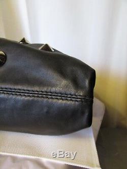 Superbe grand sac cabas sonia by sonia rykiel cuir noir clouté