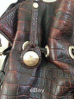 Superbe sac Lancel 1er flirt cuir façon croco