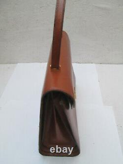 -Superbe sac à main vintage cuir TBEG bag 70's