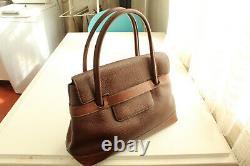 Très joli sac à main en cuir grainé DELVAUX marron