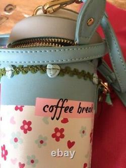 VENDULA LONDON 2019 sac à main en forme de gobelet COFFEE BAR, étiqueté, 135