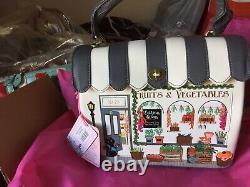 VENDULA LONDON sac à main SHOP FRUITS AND VEGETABLE Ecru neuf, étiqueté