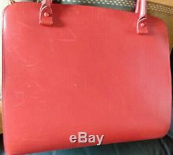 Véritable sac à main de luxe en cuir maroquinerie Delvaux Bruxelles Vintage