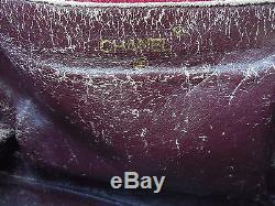 Vintage Sac CHANEL en cuir en l'etat