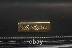 Yves Saint Laurent Vintage Mini Sac à Main Ysl Logo Classique Cuir Noir 5536h
