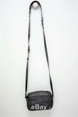 Zadig et Voltaire, Mini sac bandoulière XS BOXY en cuir noir